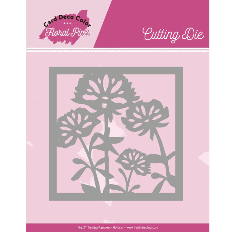 Dies - Yvonne Creations - Floral Pink - Floral Pink Square