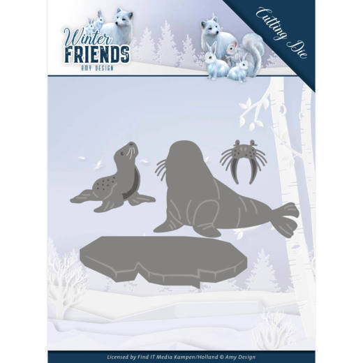 Dies - Amy Design - Winter Friends - Polar Friends