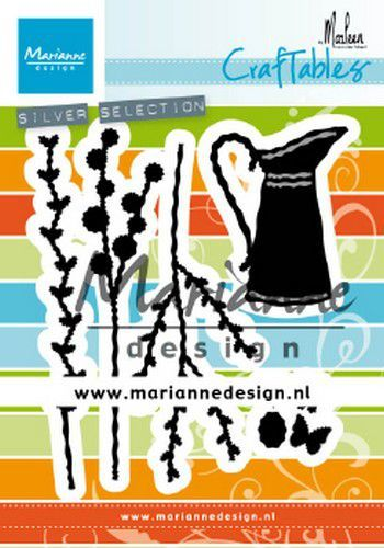 Marianne D Craftable kan met bloemen by Marleen CR1499 85x99mm (02-20)