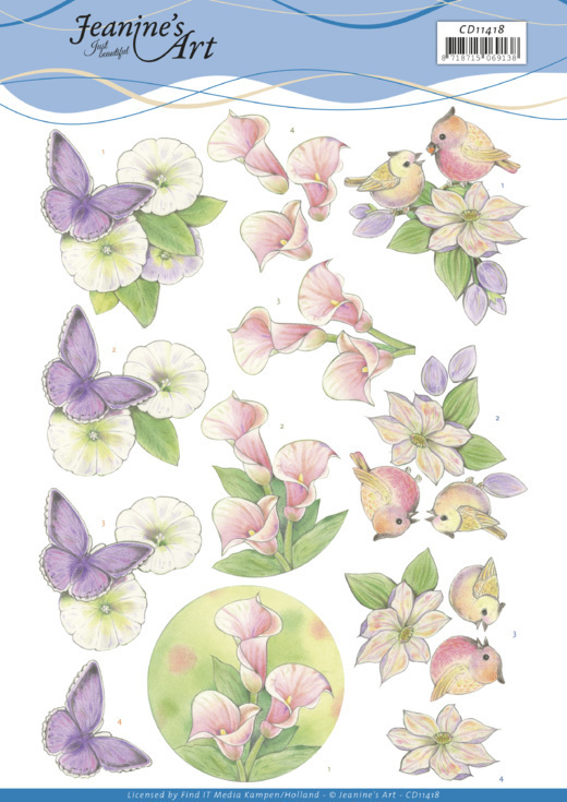 3D cutting sheet - Jeanine's Art - Wonderful nature