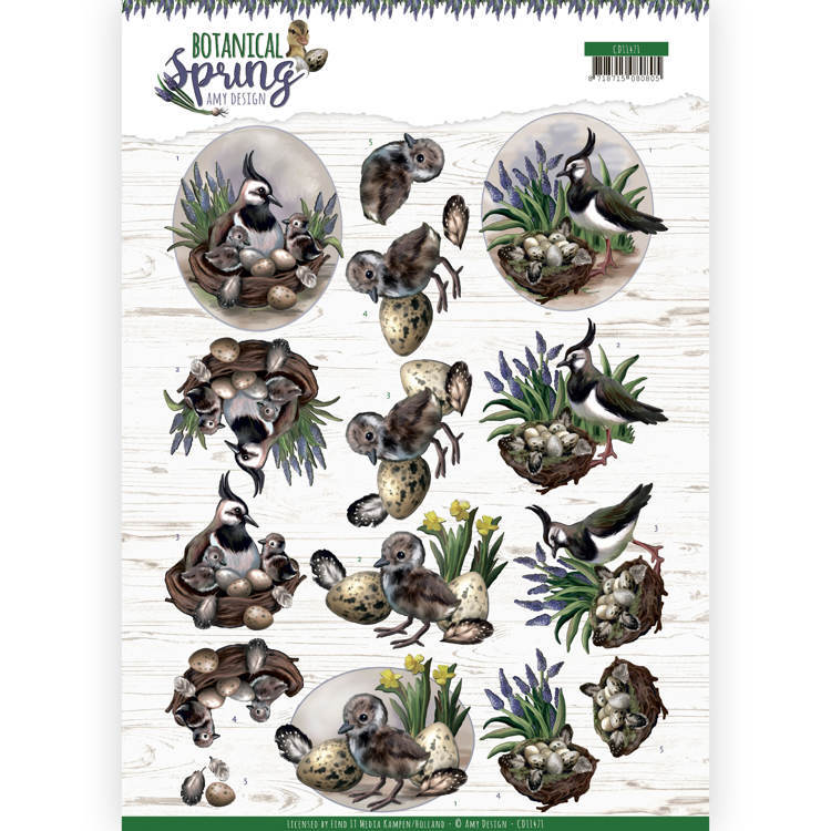 3D cutting sheet - Amy Design - Botanical Spring - Lapwing