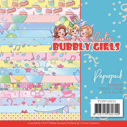 Paperpack - Yvonne Creations - Bubbly Girls - Party
