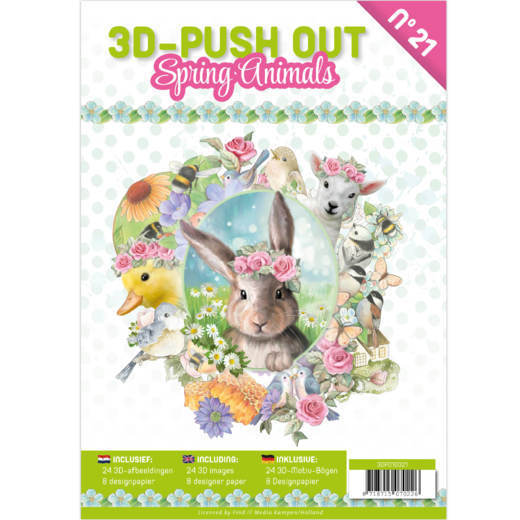 3D Push Out boek 21 - Spring Animals