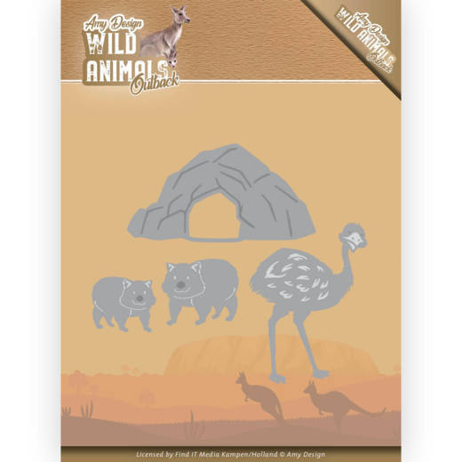 Dies - Amy Design - Wild Animals Outback - Emu and Wombat