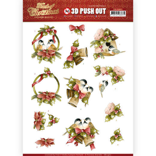 3D Push Out - Precious Marieke - Touch of Christmas - Birds