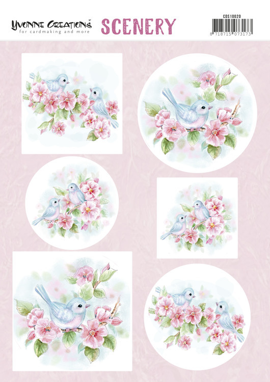 Push Out Scenery - Yvonne Creations - Aquarella - Pink Blossom