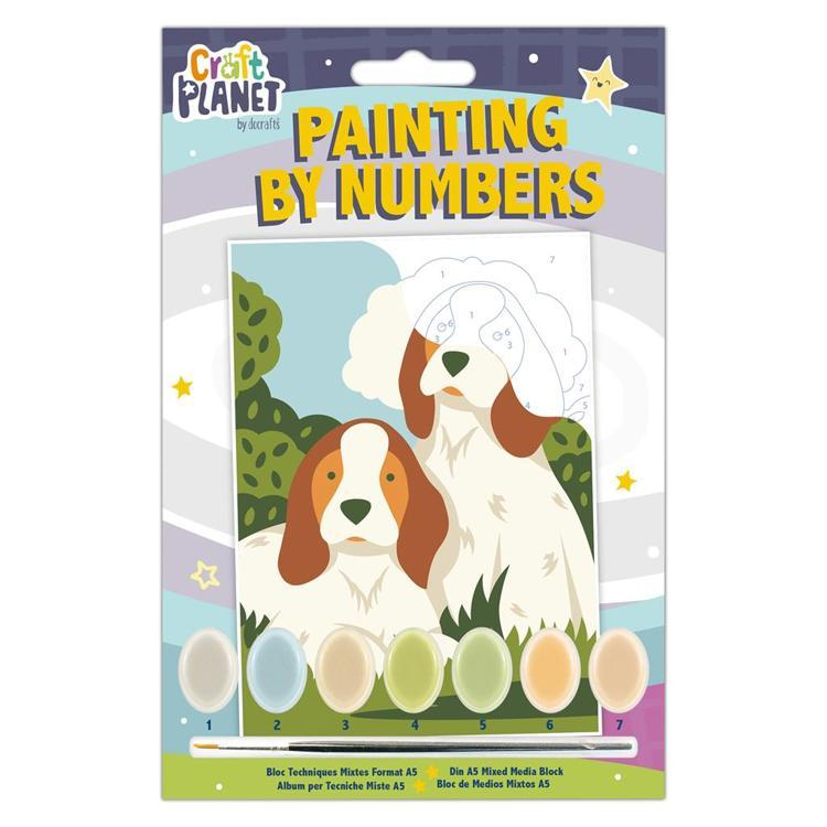 Mini Painting By Numbers - Dogs