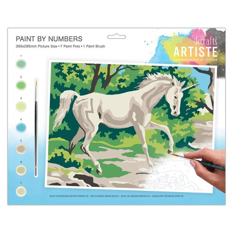 Large Painting By Numbers - Mystical Unicorn