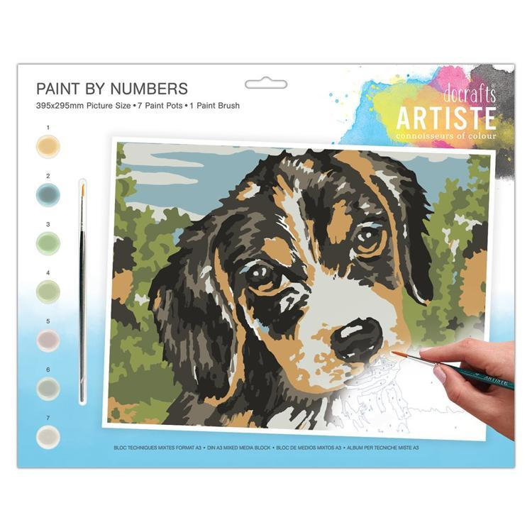 Large Painting By Numbers - Dog