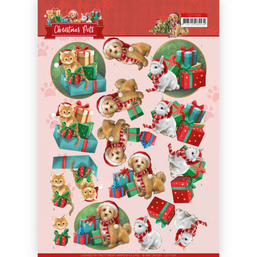 3D Cutting Sheet - Amy Design - Christmas Pets - Presents