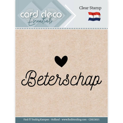 Card Deco Essentials - Clear Stamps - Beterschap