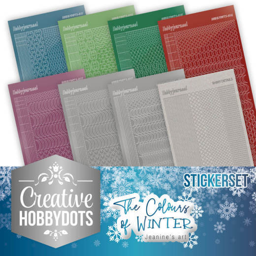 Creative Hobbydots 7 - Jeanine's Art - The colours of winter - Sticker Set