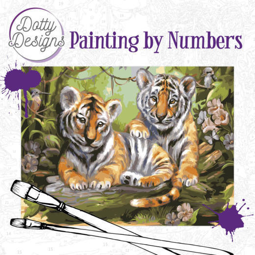 Dotty Design Painting by Numbers - Tigers