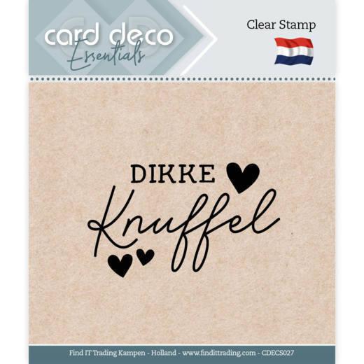 Card Deco Essentials - Clear Stamps - Dikke Knuffel