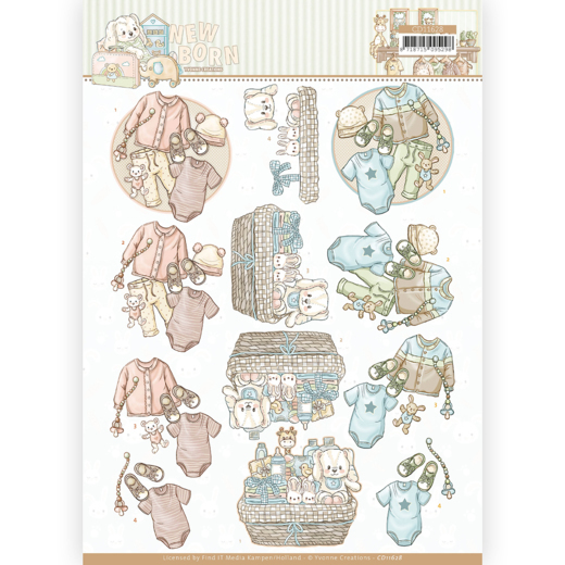 3D cutting sheet - Yvonne Creations - Newborn - Baby Clothes