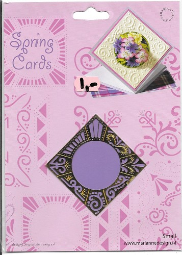 Borduurmal Spring cards marianne design