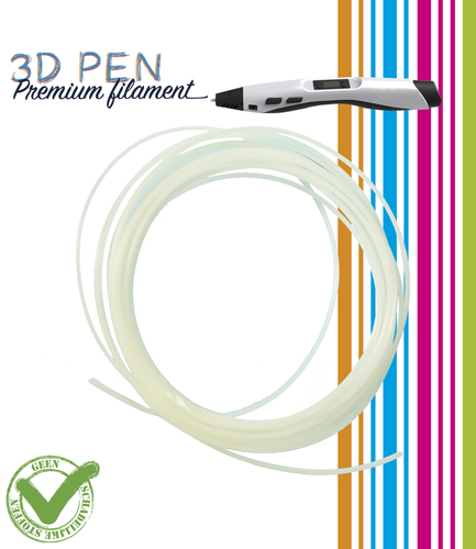3D Pen filament - 5M - glow in the dark (groen/geel)