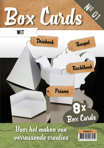 Box Cards 1 - Wit