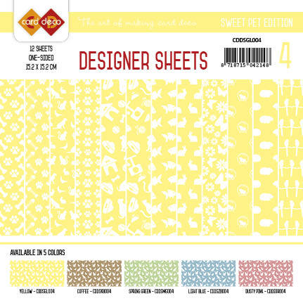 Card Deco - Designer Sheets -Sweet  Pet-geel