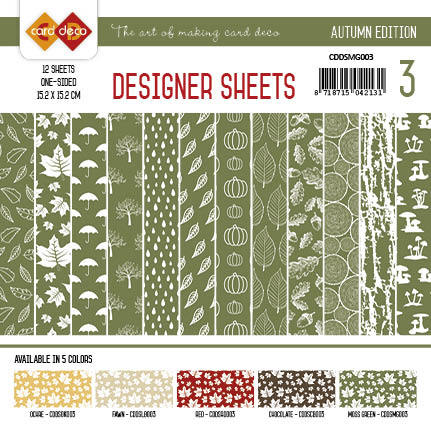Card Deco - Designer Sheets - Autumn Colors-Mosgroen